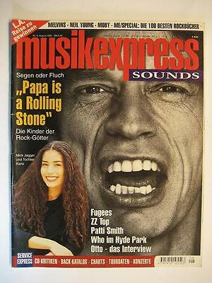 Musik Express Sounds 1996 # 8 - Rolling Stones Fugees Zz Top Patti Smith