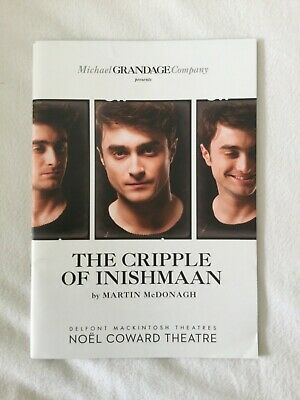 The Cripple Of Inishmaan By Martin Mcdonagh Theatre Programme- Daniel Radcliffe