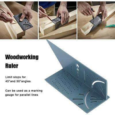 3D Woodworking Angle Measuring Square Size Measure Tool Gauge Ruler