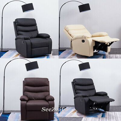 Luxury Seater Faux PU Leather Cinema Recliner Sofa Lounge Chair Armchair Gaming