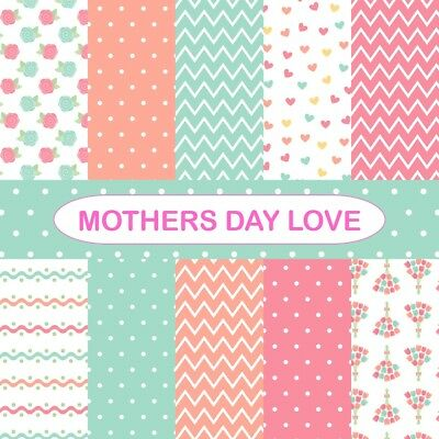 MOTHERS DAY LOVE SCRAPBOOK PAPER - 10 x A4 pages