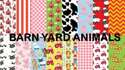 BARNYARD ANIMALS SCRAPBOOK PAPER - 16 x A4 pages.