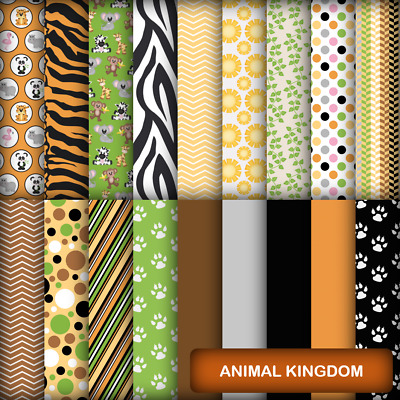 ANIMAL KINGDOM SCRAPBOOK PAPER - 18 x A4 pages
