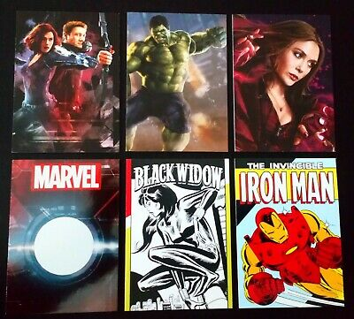 6 Marvel Trading Cards / Panini