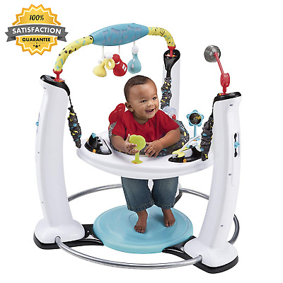 Adjustable Height ORIGINAL Exersaucer Jump Learn Stationary Jumper Jam Session