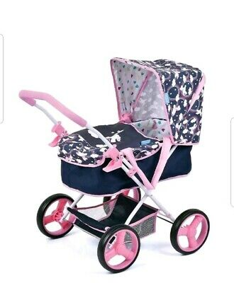 2 In 1 Magical Unicorn Childrens/Kids Doll Pram & Carry Cot Pushchair Toy