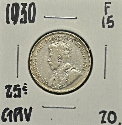 1930 Canada 25 cents F-15