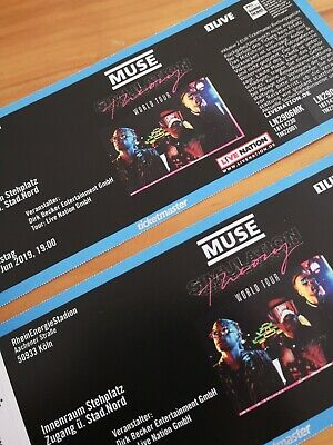 2 Tickets Muse -  Simulation Theory World Tour - Köln - 29. Juni 2019 Innenraum