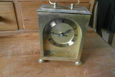 metal cased quartz carriage clock  h samuel