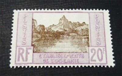 nystamps French Polynesia Stamp # 75 Mint OG H $52