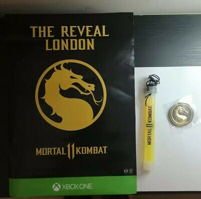 Mortal Kombat 11 Reveal Promotional Metal Coin, Poster & Glow Stick New xbox one