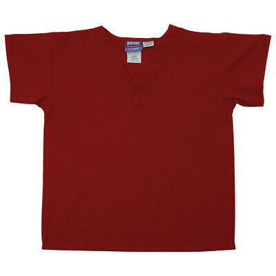Gelscrubs Kids Red Scrub Shirt, Large (9-12 Year Olds) 6774-RED-L