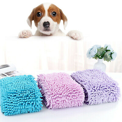Super Absorbent Pet Drying Towel Microfibre Dog Cat Bath Towel with Hand Pocket