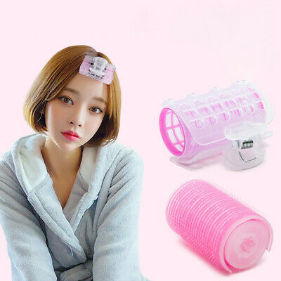3Pcs Hair Rollers Bang Curlers Self-grip Sticky Curling Tools with Plastic Clips