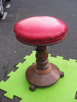 Antique Old Ornate Piano Stool Possibly Georgian or early Victorian.
