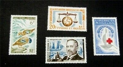 nystamps French St. Pierre & Miquelon Stamp # 365-368 Mint OG H/NH $32
