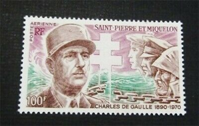 nystamps French St. Pierre & Miquelon Stamp # C50 Mint OG H $30
