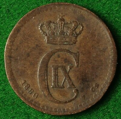 Denmark 1 Ore 1880 in very nice condition - FREE UK POSTAGE