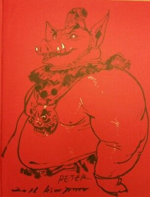 Kim Jung Gi sketch/original art in 2013 Sketch Collection HC Boxed w/ Poster NM