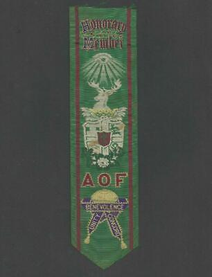 Q71 - Ancient Order Of Foresters - Victorian Woven Silk Bookmark / Cut Sash
