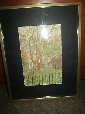 Pen & Ink Drawing Holly Hill From Mount Vernon By Matthew Wright 1975