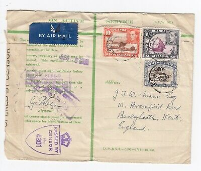 WW2 East Africa British KUT Active Service Cover EA APO 2 Multiple Censor 1944