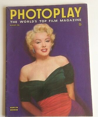 Marilyn Monroe Photoplay 1956 August Magazine UK British Rare Sexy PINUP Cover