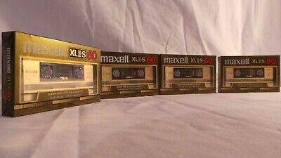 Maxell Xlii-S 60 Chrome Nos Lot De 4 K7 Neuf 1982 Old School Vintage Japan Made