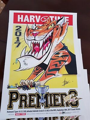 2017 Afl Grand Final Poster Richmond Limited Edition