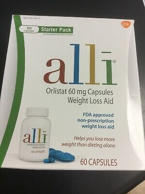 Alli Orlistat Weight Loss Aid Starter Kit Pack Weight Loss Dieting 60 Caps #8618