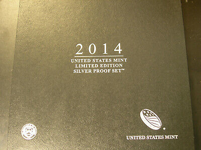 2014 United States Mint Limited Edition Silver Proof Set Eagle Kennedy Quarters