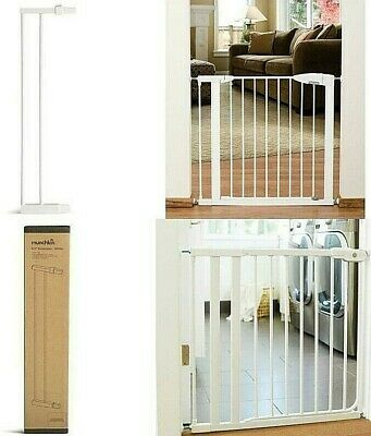 Munchkin Easy Step Walk White Auto Close Tip Guard Baby Safety Gate Extension