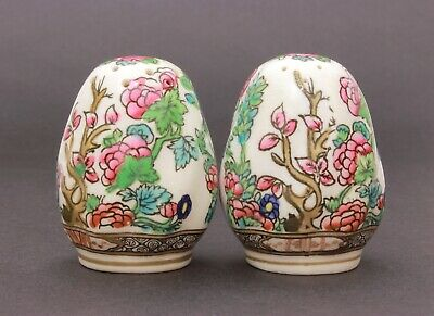 Coalport Indian Tree Salt & Pepper Shakers, English Bone China