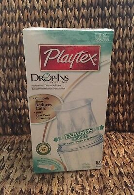 NEW 100 Playtex Drop Ins Disposable Bottle Liners 8 10 Oz BPA Free Dropins