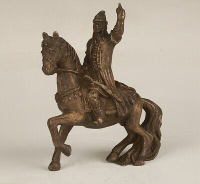 Chinese Bronze Handmade Casting Warrior Horse Statue Collection Decoration