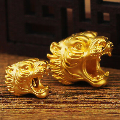 New Pure 24k Yellow Gold Pendant / 3D Lovely Big Tiger Pendant 15mm H 1 pcs