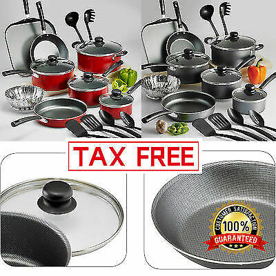 Nonstick Tramontina 18 Piece 9 Pc Pots And Pans Cookware Set Cooking Kitchen