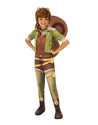 55514acf3176f GIRLS SQUIRREL Girl Costume Kids Marvel DC Comics Superhero Fancy ...