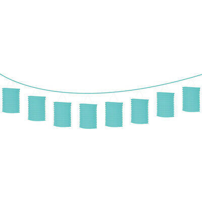 Robin's Egg Blue Everyday Party Lantern Garland 12 Foot Paper Banner