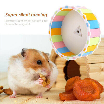Plastic Hamster Guinea Pig Mouse Rat Exercise Silent Running Wheel Pet Training
