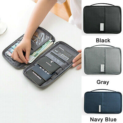 Small Big Travel Wallet Family Passport Holder Organizer Doc Bag Case Waterproof