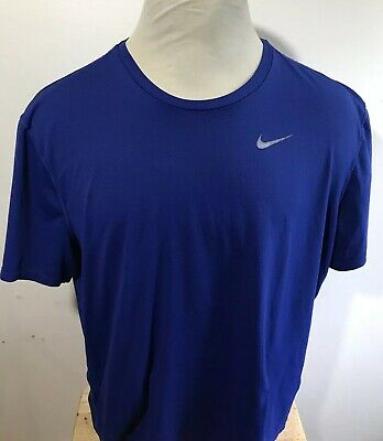 Nike Running Breathe Dry Dri-fit Heather White Shirt Mens Sz Xxlarge Activewear Clothing, Shoes & Accessories