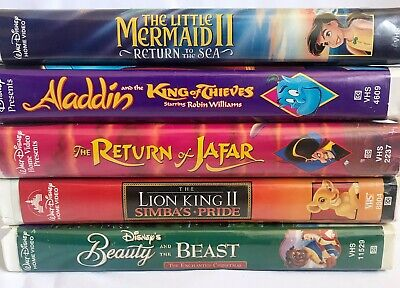 Walt Disney VHS lot Aladdin and the King of Thieves The Return Of Jafar