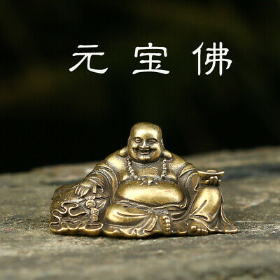 Chinese Antique Brass statues are hand-carved exquisite little Buddha statues.