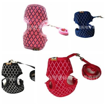 Puppy Kitten Clothes Pets Cat Walking Jacket Harness and Leash Adjustable Vest