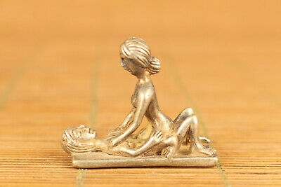 old tibet silver handmade carving art girl man and woman gift netsuke statue