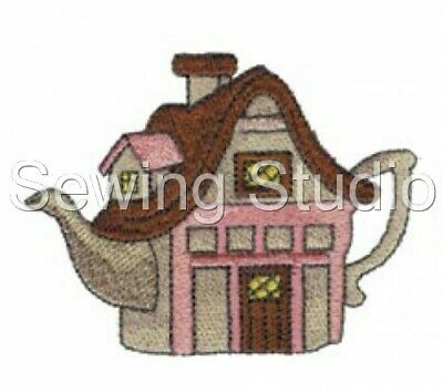 Teapot Houses 1 Designs - Machine Embroidery Designs On Cd Or Usb