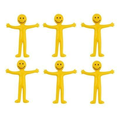 Stretchy Yellow Men Smile Face Man Kids Birthday Party Loot Bag Fillers Toys