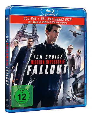 Mission: Impossible - Fallout (Blu-ray+Bonus Blu-ray) DER ACTION-THRILLER 2018!