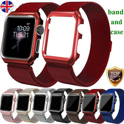 Milanese Stainless Steel iWatch Strap Band+Cover Case Apple Watch Series 4/3/2/1